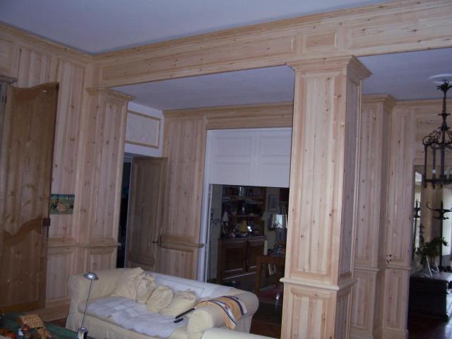 Habillage int rieur de murs en bois - Habillage mur interieur pvc ...